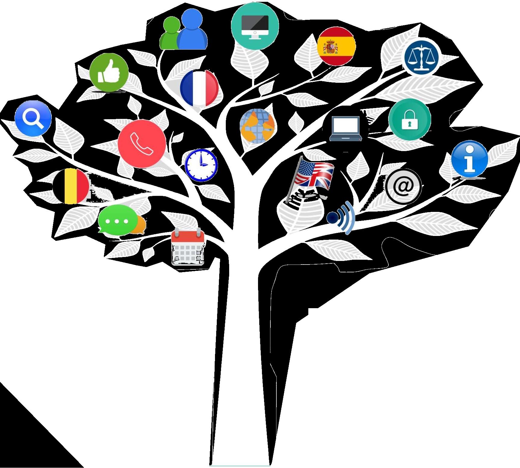 arbre de vie avec différentes icones